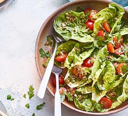 Parsley & caper salad in a salad bowl
