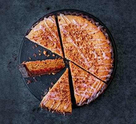 PBJ bakewell tart