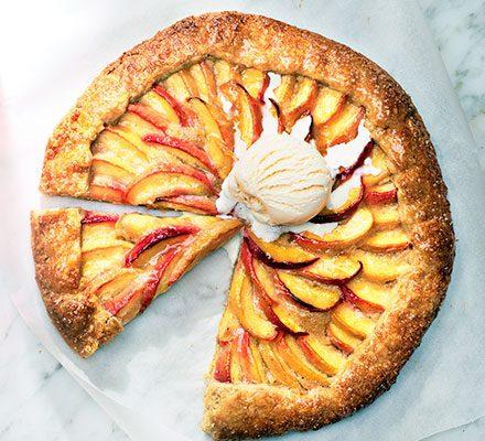 Peach Galette With Brown Sugar Crust Recipe Bbc Good Food