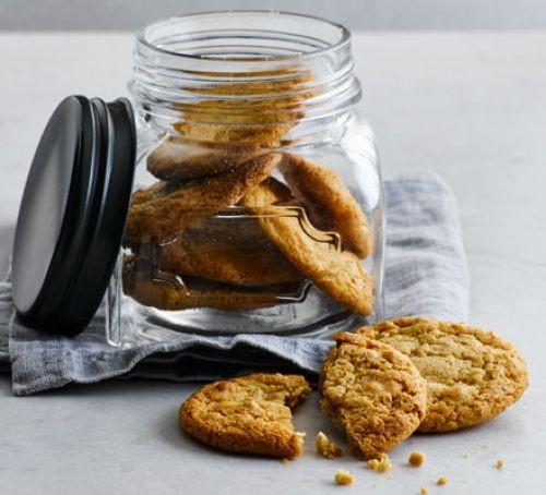 Jar of peanut butter cookies