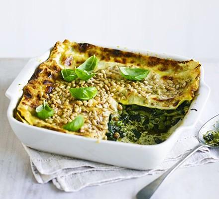 Easy pesto lasagne