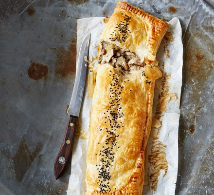 Pheasant & mushroom pastry puff slice 2016