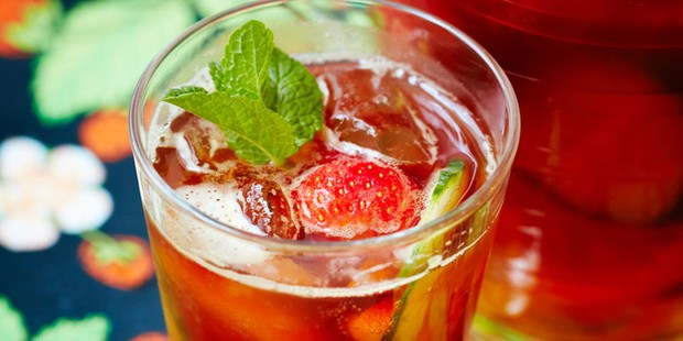 A glass of Pimm's