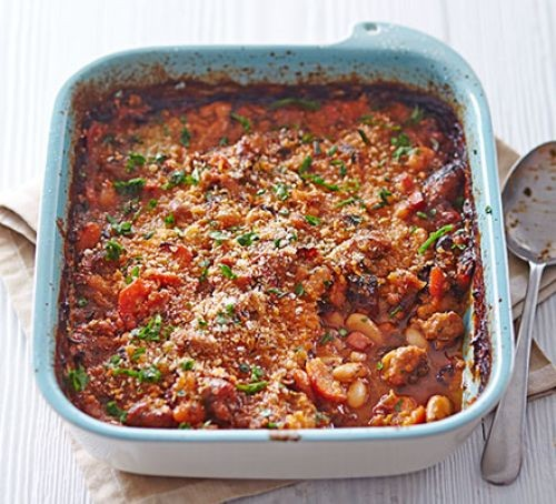 Cassoulet in dish