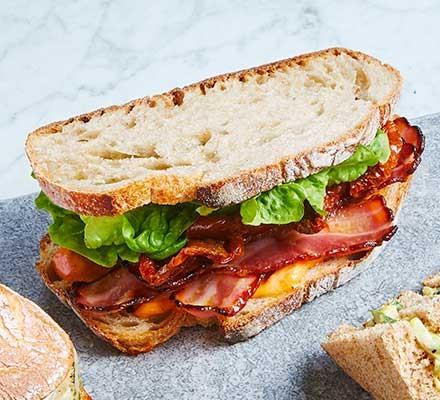 A posh BLT sandwich