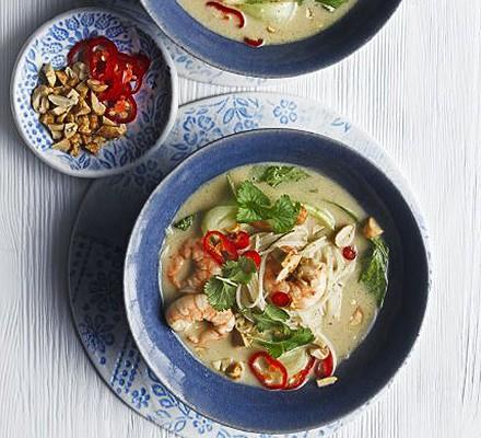 Thai prawn & peanut noodle soup