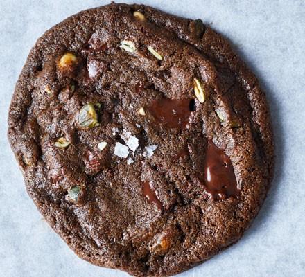Pumpkin seed cookie on baking paper