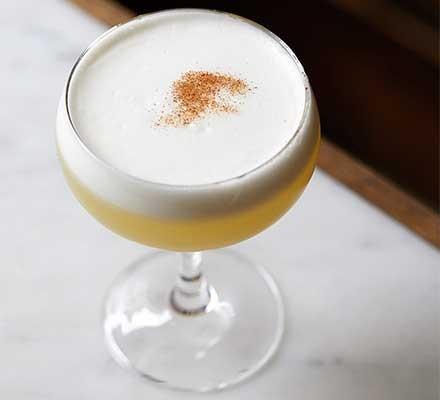 A cocktail glass serving Punjabi sour