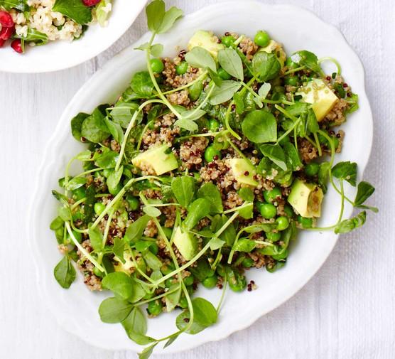 Quinoa, pea & avocado salad