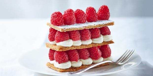 Raspberry millefeuille recipe