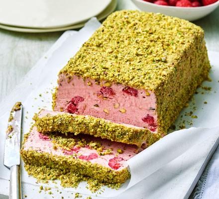 Raspberry & pistachio parfait