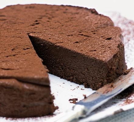 Decadent chocolate truffle torte