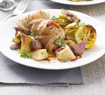One-pan simple summer chicken