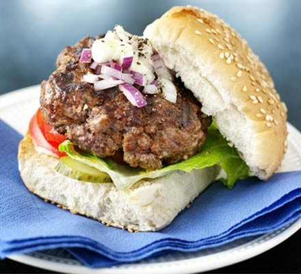 Really easy beefburgers