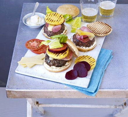 Aussie burgers with the lot
