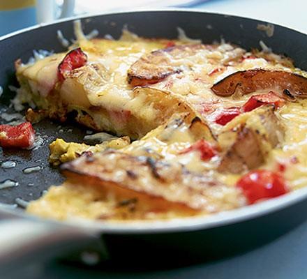 Potato wedge tortilla