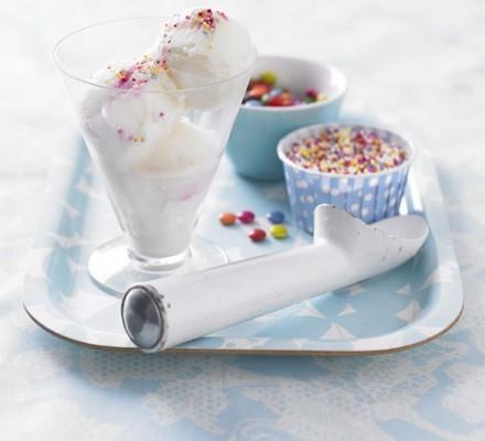 Instant vanilla ice cream