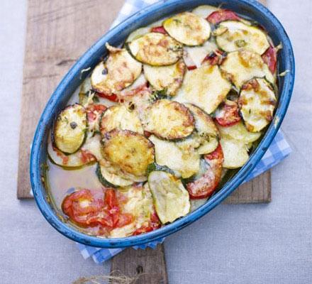 Summer courgette & tomato gratin