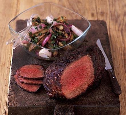 Soy-glazed beef