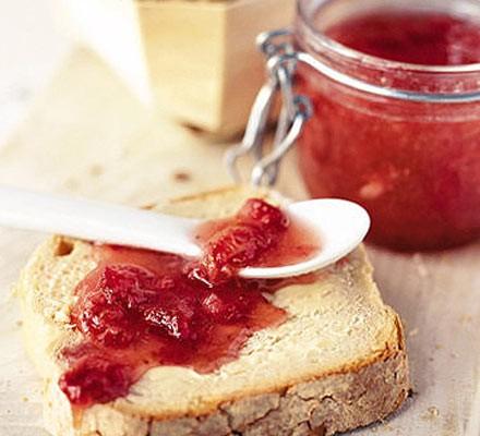 No-cook strawberry jam