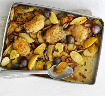 Lemon & oregano chicken traybake