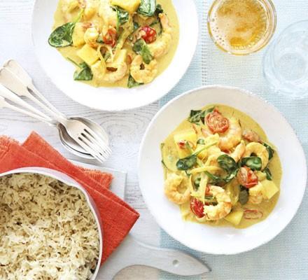 Goan prawn & coconut curry with cumin rice