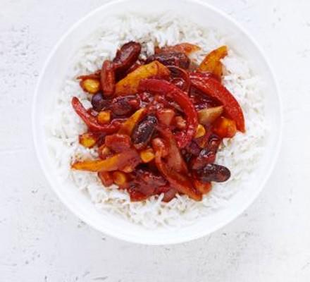 Bean & pepper chilli
