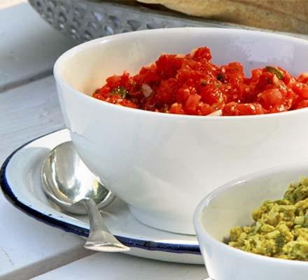 Red pepper & tomato salsa