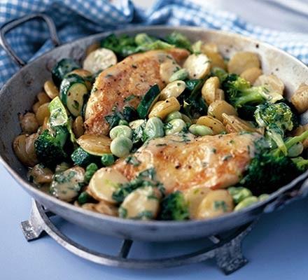 Saucy chicken & vegetables