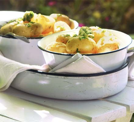 New potatoes with lemon & chive butter
