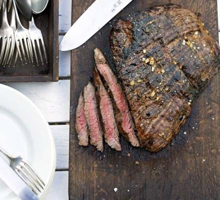 Seared beef with orange & chilli