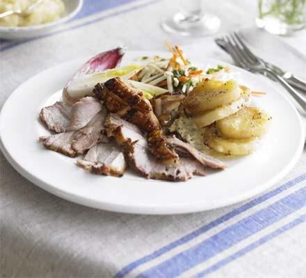 Turnip, potato & mustard gratin