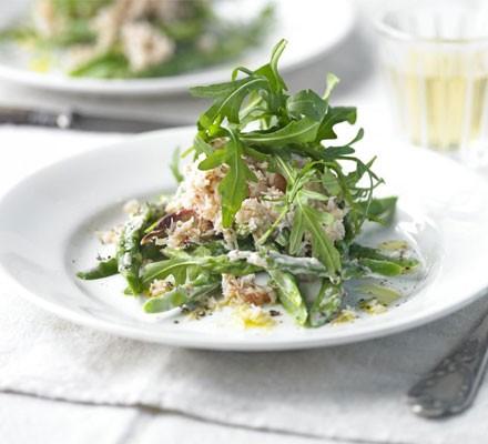 Asparagus & crab salad