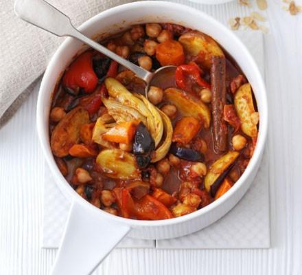 Chickpea & roasted veg tagine