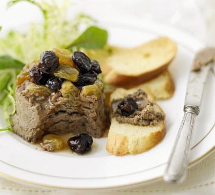 Chicken liver parfait with sultanas & raisins