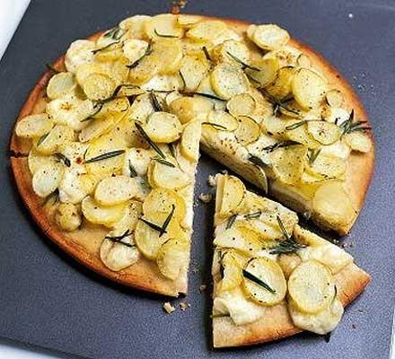 New potato & rosemary pizza
