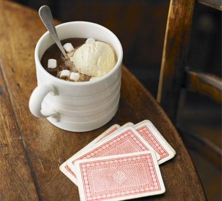 Hot chocolate milkshakes