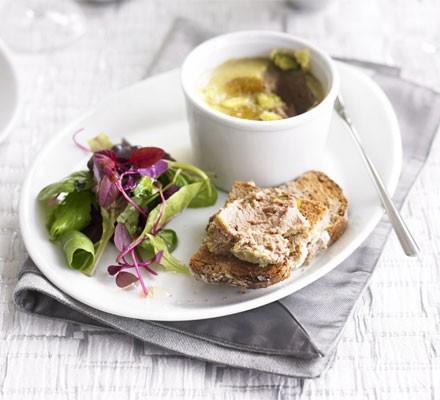 Chicken liver & raisin pâté