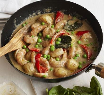 Thai prawn, potato & vegetable curry