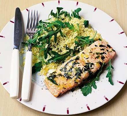 Lemon-rubbed salmon