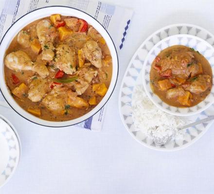 Spicy African chicken stew