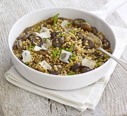 Barley, chicken & mushroom risotto