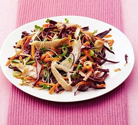 Crunchy red cabbage slaw