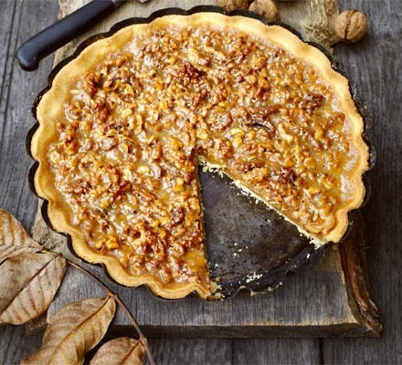 Walnut Caramel Tart Recipe Bbc Good Food