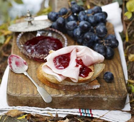 Grape & rosemary jelly