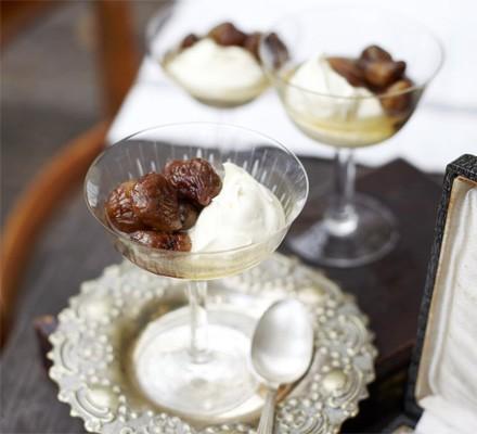 Chestnuts in Cognac & vanilla syrup