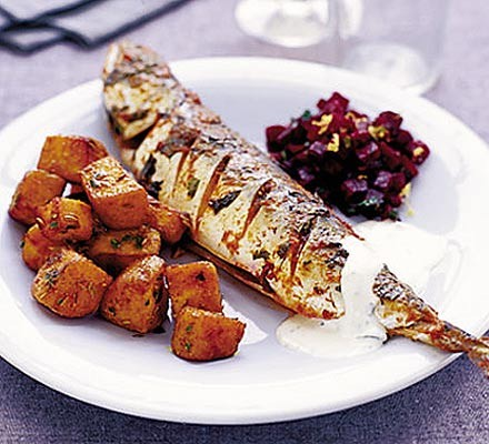 Mackerel with curry spices