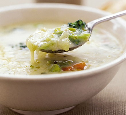 Gruyère & vegetable soup