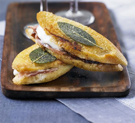Mini saltimbocca sandwiches