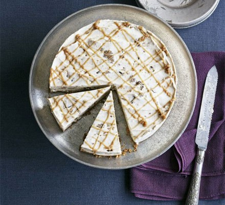 Iced chestnut ripple cheesecake